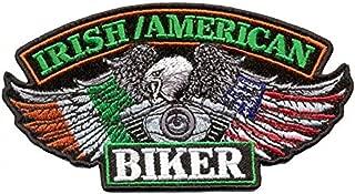 Hot Leathers, IRISH/USA BIKER FLAGS, Iron-On / Saw-On Rayon PATCH - 5
