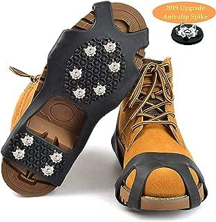 Crampones Cubierta Antideslizante de Zapatos,Suelas Antideslizantes para Hombres y Mujeres Zapatos,10 Puntas Dientes Acero Antideslizante en Hielo o Nieve