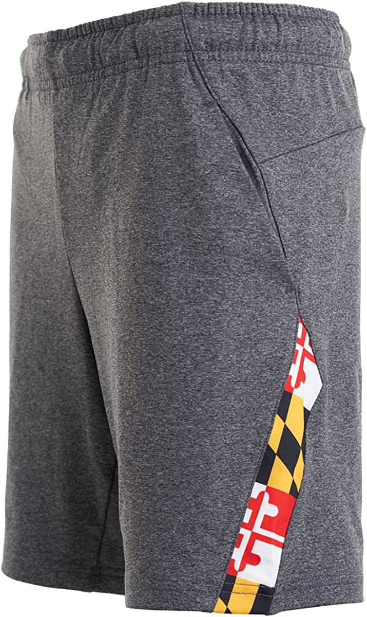Covalent Activewear Maryland Flag Shorts for Boys Sports and Gifts
