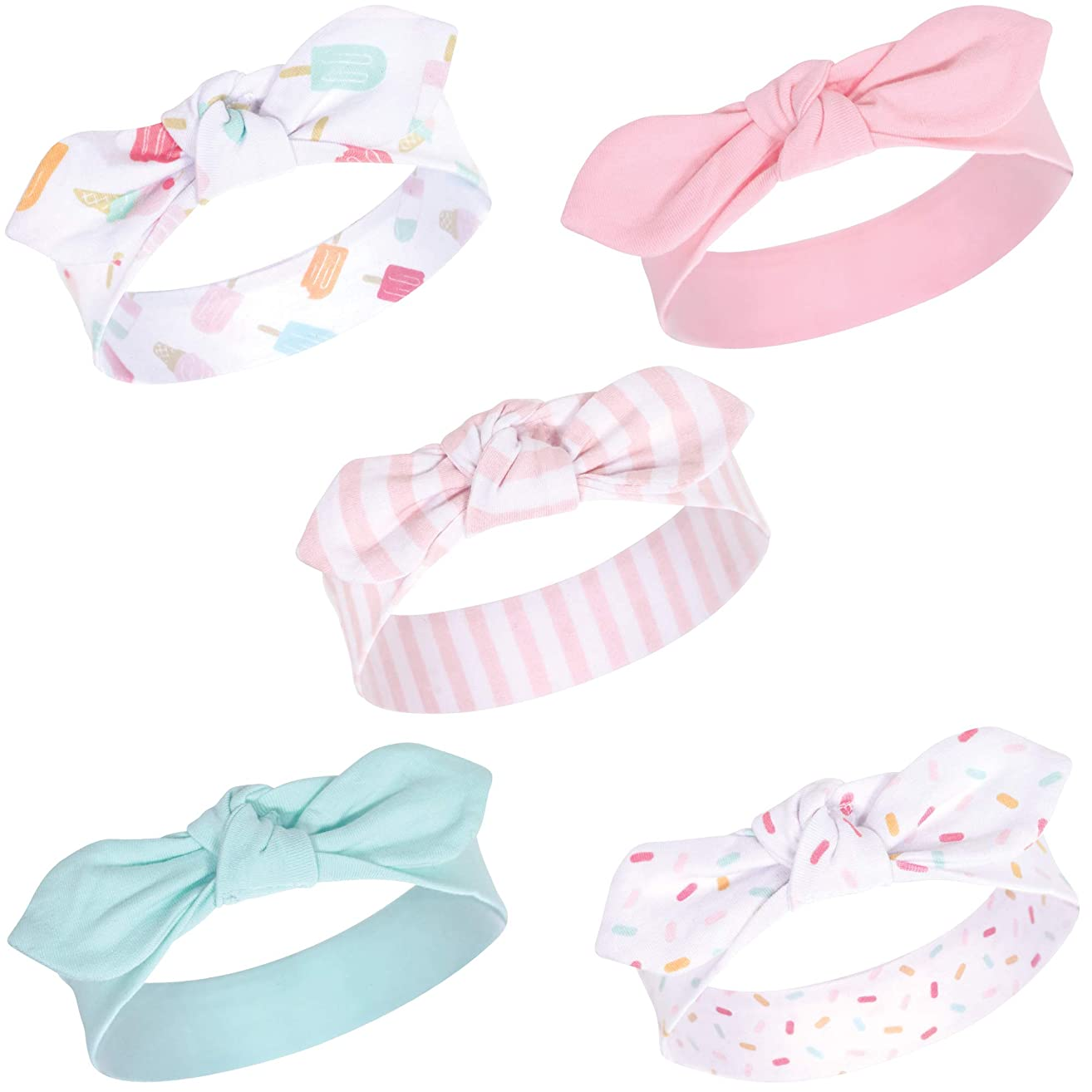 Hudson Baby Baby Girls' Headband, 5 Pack