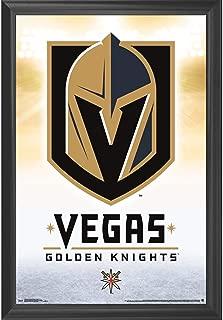 Las Vegas Golden Knights Wall Art Decor Framed Print | 24x36 Premium (Canvas/Painting Like) Textured Poster | NHL VGK Hockey Team Fan Man Cave Artwork | Sports Memorabilia for Guys & Girls Bedroom