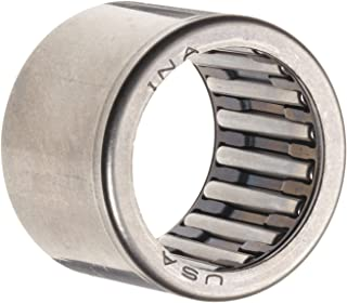 """INA SCE88 Needle Roller Bearing, Caged Drawn Cup, Steel Cage, Open End, Inch, 1/2"""" ID, 11/16"""" OD, 1/2"""" Width, 22000rpm Maximum Rotational Speed, 2030lbf Static Load Capacity, 1550lbf Dynamic Load Capacity"""