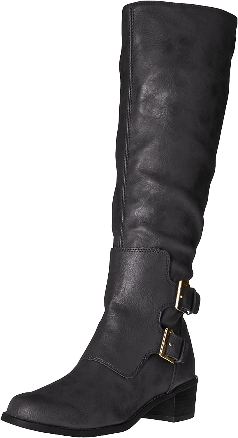Aerosoles Women's Ever After Riding Boot Black