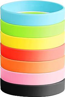 BESTEEL 7PCS Silicone Bracciale Set per Uomo Donna Braccialetti Rubber Band Bracciali Assortiti Colori Gioielli Regali
