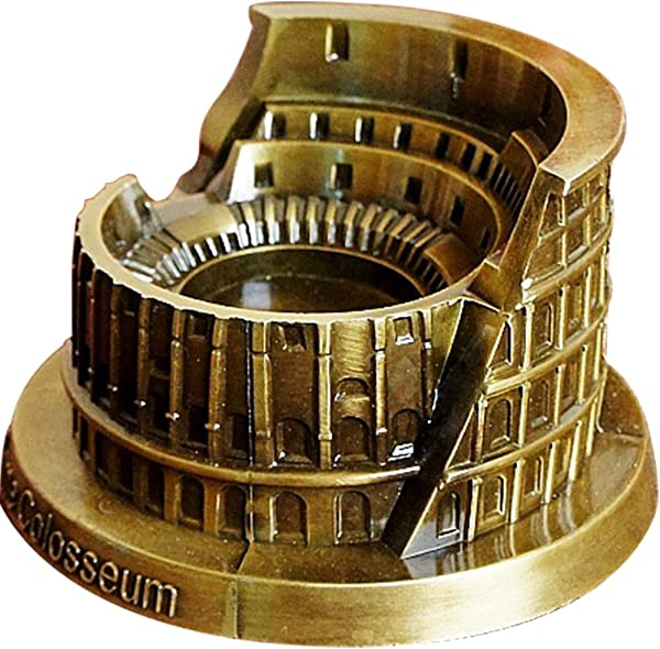 TINTON LIFE Vintage Metal Ashtray Roman Colosseum Model Cigaratte Ashtray For Indoor Decoration Gift For Men And Women
