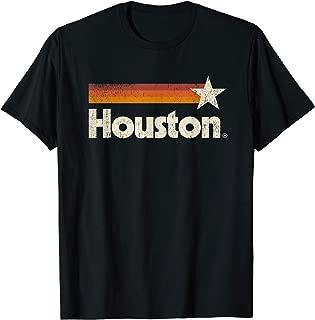 Vintage Houston Texas T-Shirt Houston Strong Stripes T-Shirt