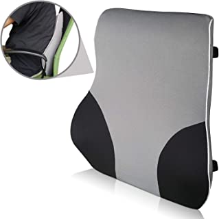 Viteps Lumbar Support Back Cushion with Special Contour Ergonomic Design to Ease Pack Pain and 2 Straps
