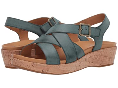 Kork-Ease Caroleigh (Turquoise Full Grain Leather) Women