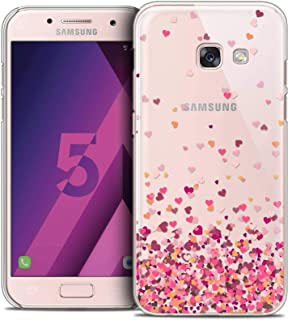 Case for Samsung Galaxy A5 2017, Sweetie Heart Flakes Design