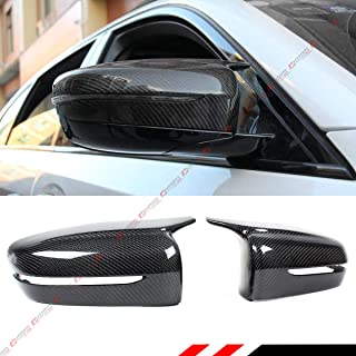 Cuztom Tuning Fits for 2017-2020 BMW G30 G31 530i 540i M550i 5 Series M Style Horn Shape Carbon Fiber Replacement Side Mirror Covers Caps