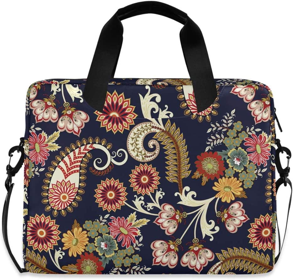 ALAZA Paisley Free shipping on posting reviews Floral Ethnic Pattern Navy Case Max 49% OFF Laptop Blue Bag Sl