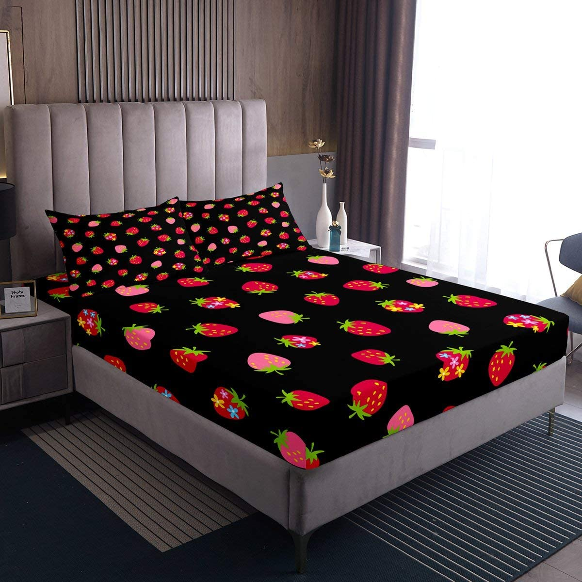 Motocross Rider Fitted Sheet Extreme Sports Design Bedding Set ...
