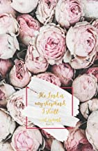 THE LORD IS MY SHEPHERD I SHALL NOT WANT: Psalm 23:1 - Dusty rose flowers College classic Ruled Pages Book A5 (5.5 x 8.5) Medium Lined Journal Composition Notebook to write in (Positive Vibrations)