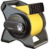 Stanley 655704 High Velocity Blower Fan With Pivoting Blower & Built-in Outlets (Yellow)