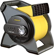 STANLEY 655704 High Velocity Blower Fan – Features Pivoting Blower and Built-in Outlets