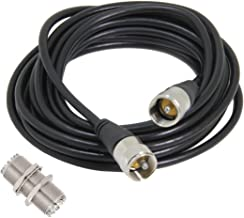 CB Coax Cable, Ancable 10ft 50 Ohm UHF Male to UHF Male Cable with UHF Female, UHF Female to UHF Male CB Ham Antenna Cable