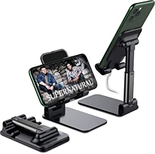 Foldable Cell Phone Stand, Yoozon [2021 Updated] Angle & Height Adjustable Desk Phone Holder with Stable Anti-Slip Design ...