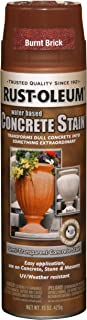 Rust-Oleum 247129 Concrete Stain Spray, Burnt Brick, 15-Ounce