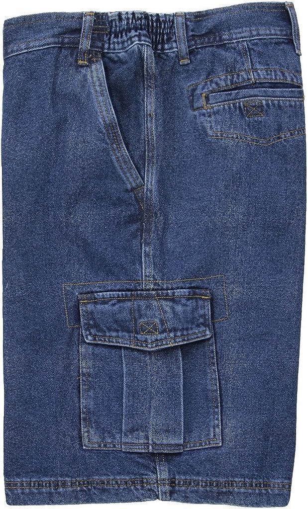 Big Men's Sizes 46-66 Denim Cargo Shorts with Expandable Waistband