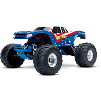 Traxxas 36084-1 Bigfoot 1/10 Scale Ready-to-Race Monster Truck, Red/White/Blue