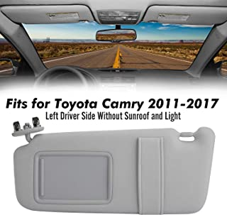 5x12 Tan with Tan Straps Compatible with Your Existing Toyota Prius 2016+ Driver and Passenger Sun Visors Visormates Side Window Sun Visor Extenders