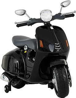 Uenjoy Kids Ride On Motorcycle 12V Electric Battery Powered Motorbike for Kids, Detachable Training Wheels, Music, Headlight, Black