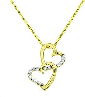 NATALIA DRAKE 1//4Cttw Rhombus Shape Two Tone Diamond Pendant Necklace