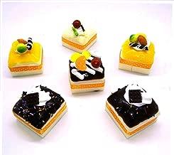 CONNECTWIDE® Artificial Sponge Cake Fridge Magnet (Artificial Fake Cake Cupcake Magnets) Size of 1 Pc in cm (6 x 6 x 5)(LxBxH) (4)