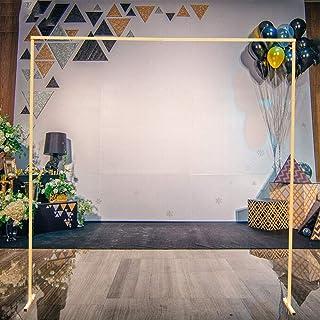 Kaibrite Arche de mariage décorative en métal doré - 2 m - Décoration de Noël - Décoration de mariage