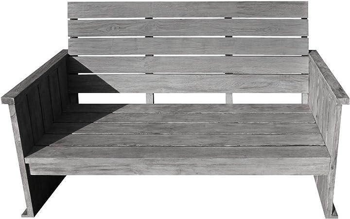 Strandgut07 panca, grigio, 125x70x95 cm 80866