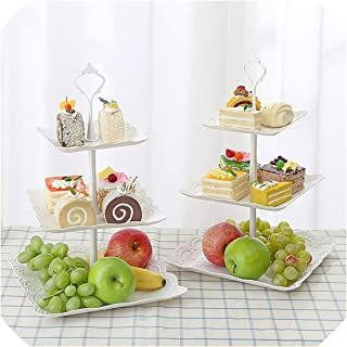 3 Tier Cupcake Stand Wedding Cake Holder Birthday Party Dessert Display Trays Stand Fruit Plate Living Room Accessory
