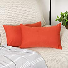 Ifnow Decor Pillow Covers Rectangle Solid Color Decorative Throw Pillow Covers Set Pillowcase Cushion Cover for Sofa Bedroom Car-2 Packs Packs