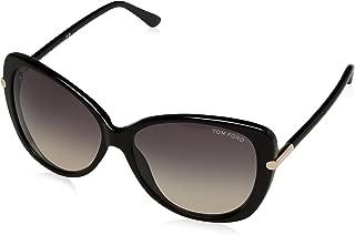 Kính mắt nữ cao cấp – Butterfly Sunglasses TF324 Linda 01B Shiny Black FT0324