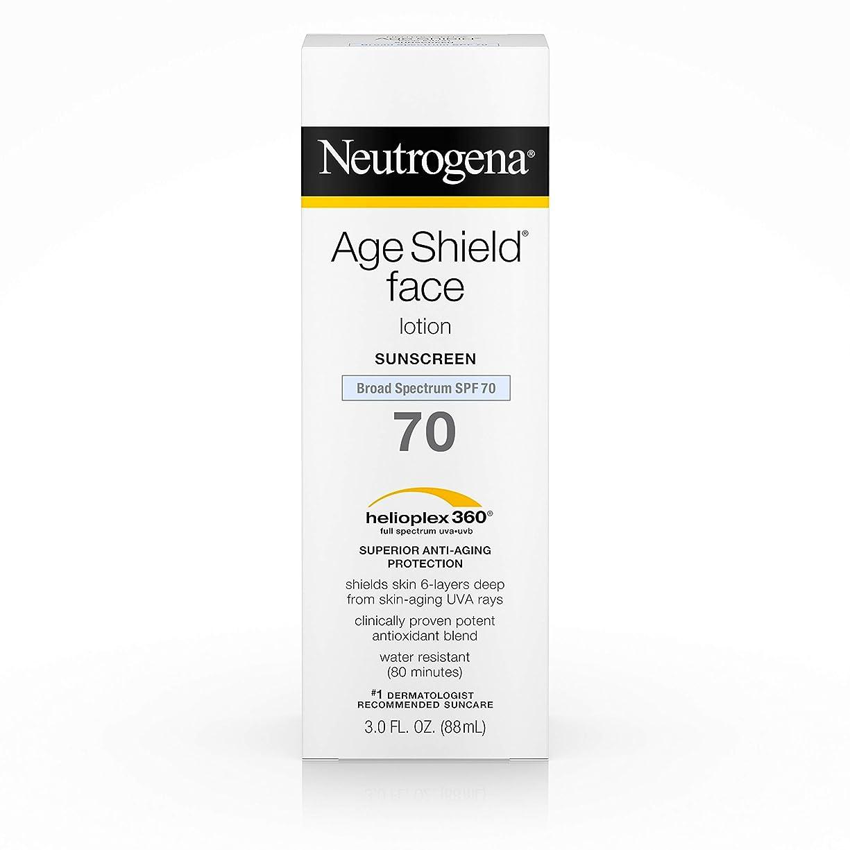 失われた緊張代数Neutrogena Age Shield Anti-Oxidant Face Lotion Sunscreen Broad Spectrum SPF 70, 3 Fluid Ounce