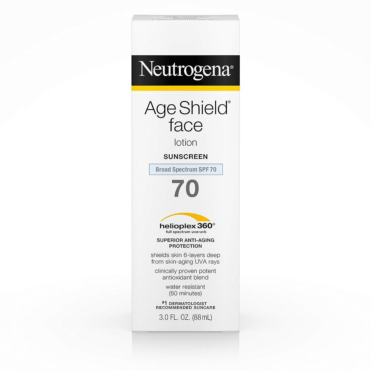 特権的毒パキスタン人Neutrogena Age Shield Anti-Oxidant Face Lotion Sunscreen Broad Spectrum SPF 70, 3 Fluid Ounce