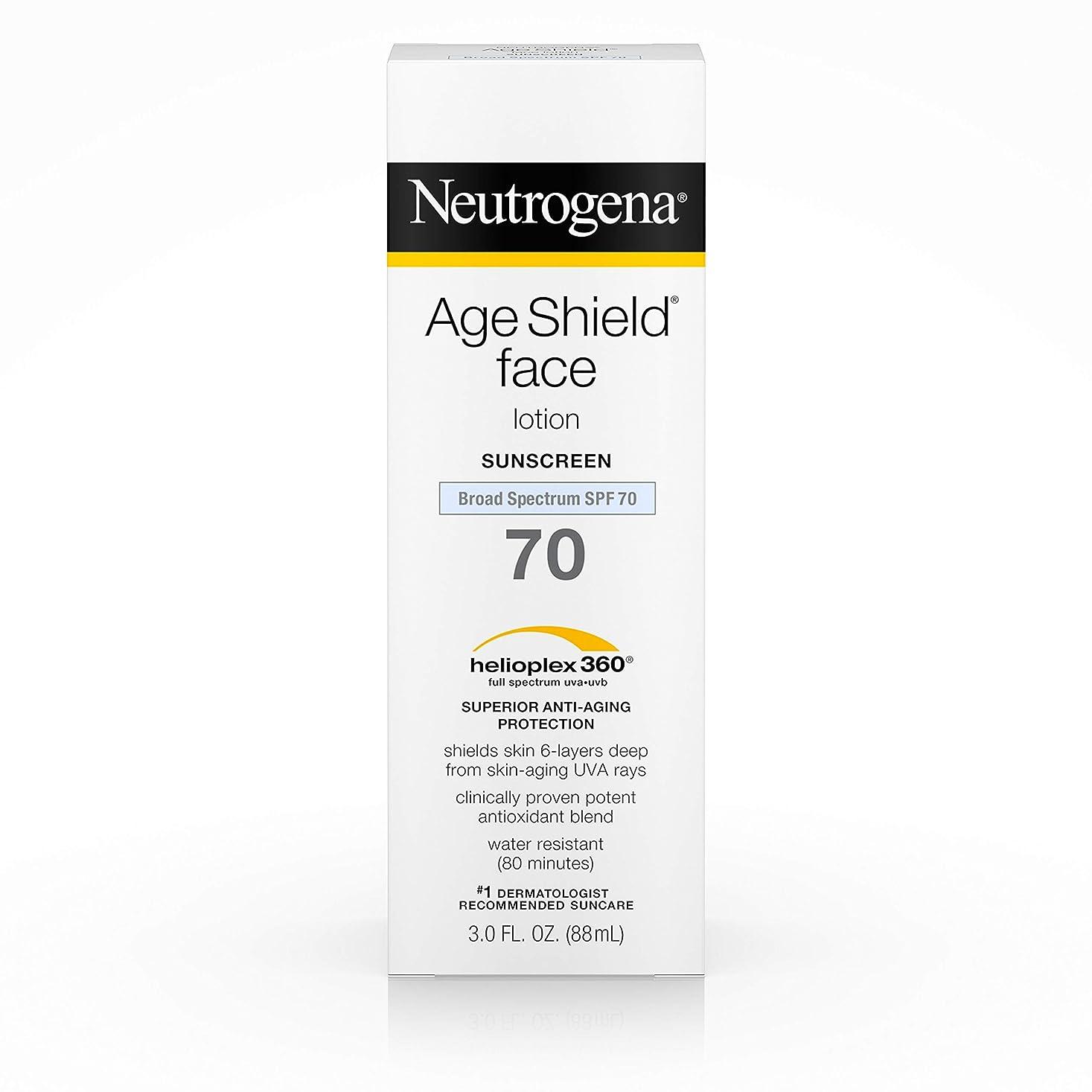帰るたくさんの潤滑するNeutrogena Age Shield Anti-Oxidant Face Lotion Sunscreen Broad Spectrum SPF 70, 3 Fluid Ounce