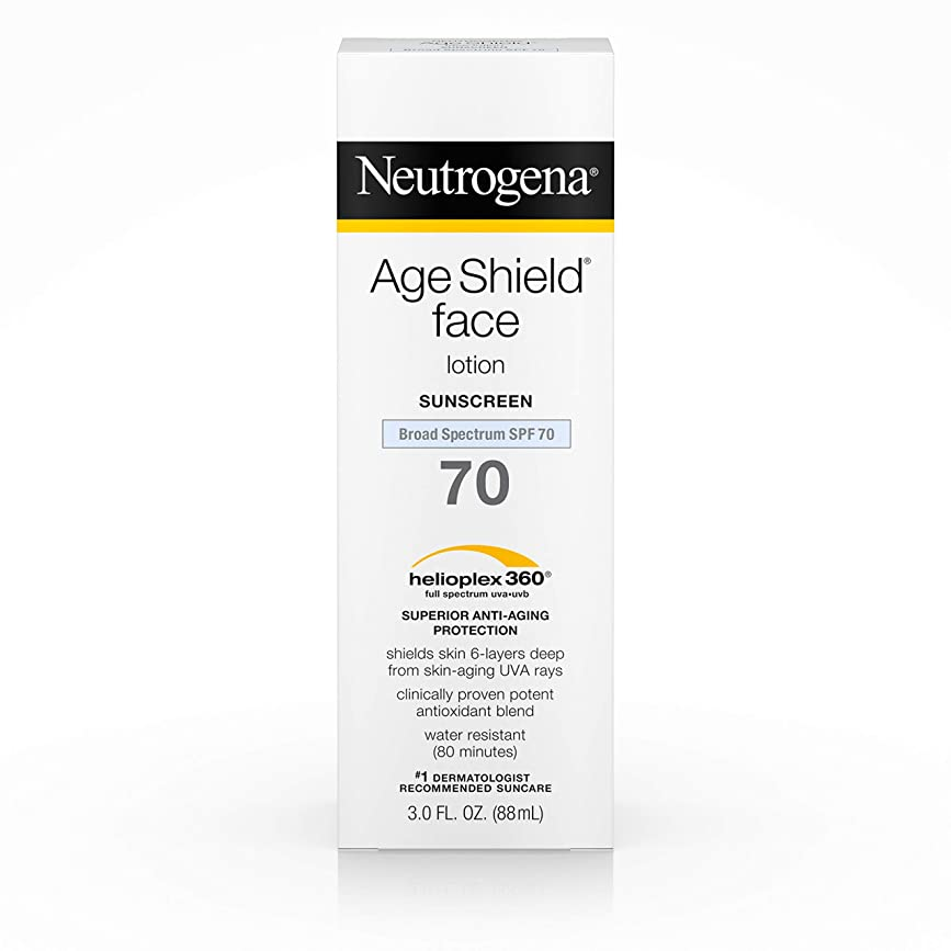 鳴り響く伝導エンゲージメントNeutrogena Age Shield Anti-Oxidant Face Lotion Sunscreen Broad Spectrum SPF 70, 3 Fluid Ounce