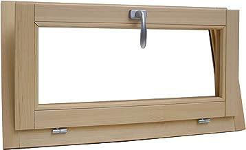 Ventana de madera laminada en bruto de pino 60 x 60 cm doble cristal t/érmico con gas arg/ón