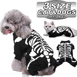 Halloween Skeleton Costumes for Pets Dogs Cats Cosplay Sweatshirt Halloween Party Skeleton Shirt Funny Pets Kitten Puppies...