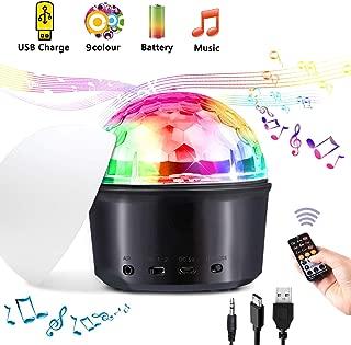 Discokugel, Tencoz Discokugel Bluetooth Tragbarer Disco-Ball in 9 Farben mit Fernbedienung Partylicht Automatische Unterhaltung Stage Lights für Party Club