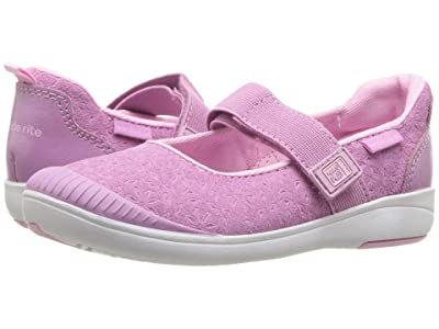 Stride Rite M2P Lia (Toddler) (Purple Leather) Girls Shoes