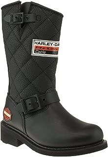 HARLEY-DAVIDSON Kadın Laconia Hi 644 Black Yağli Deri Moda Ayakkabılar