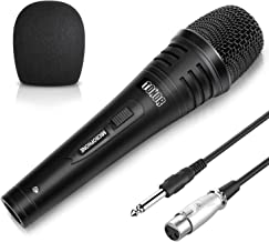 TONOR Dynamic Karaoke Microphone for Singing with 5.0m XLR Cable, Metal Handheld Mic..