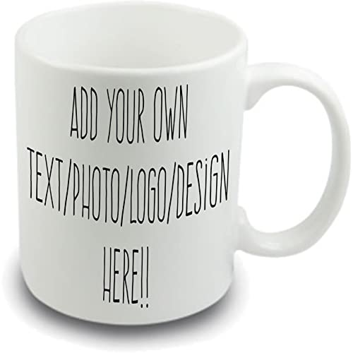 Design your own mug Personalised mug ~ your own name picture message text ~ 10 oz white mug