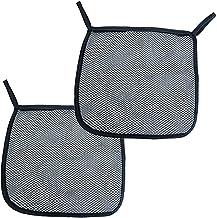 Bolsa de malla para cochecito de bebé, 2 bolsas de almacenamiento para colgar en la parte trasera, color negro