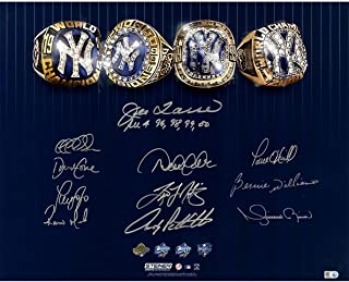 Steiner Sports New York Yankees Dynasty 11 signature 4 World Series Rings 16x20 Photo w/ All 4 96,98,99,00 Insc by Joe Torre LE/39