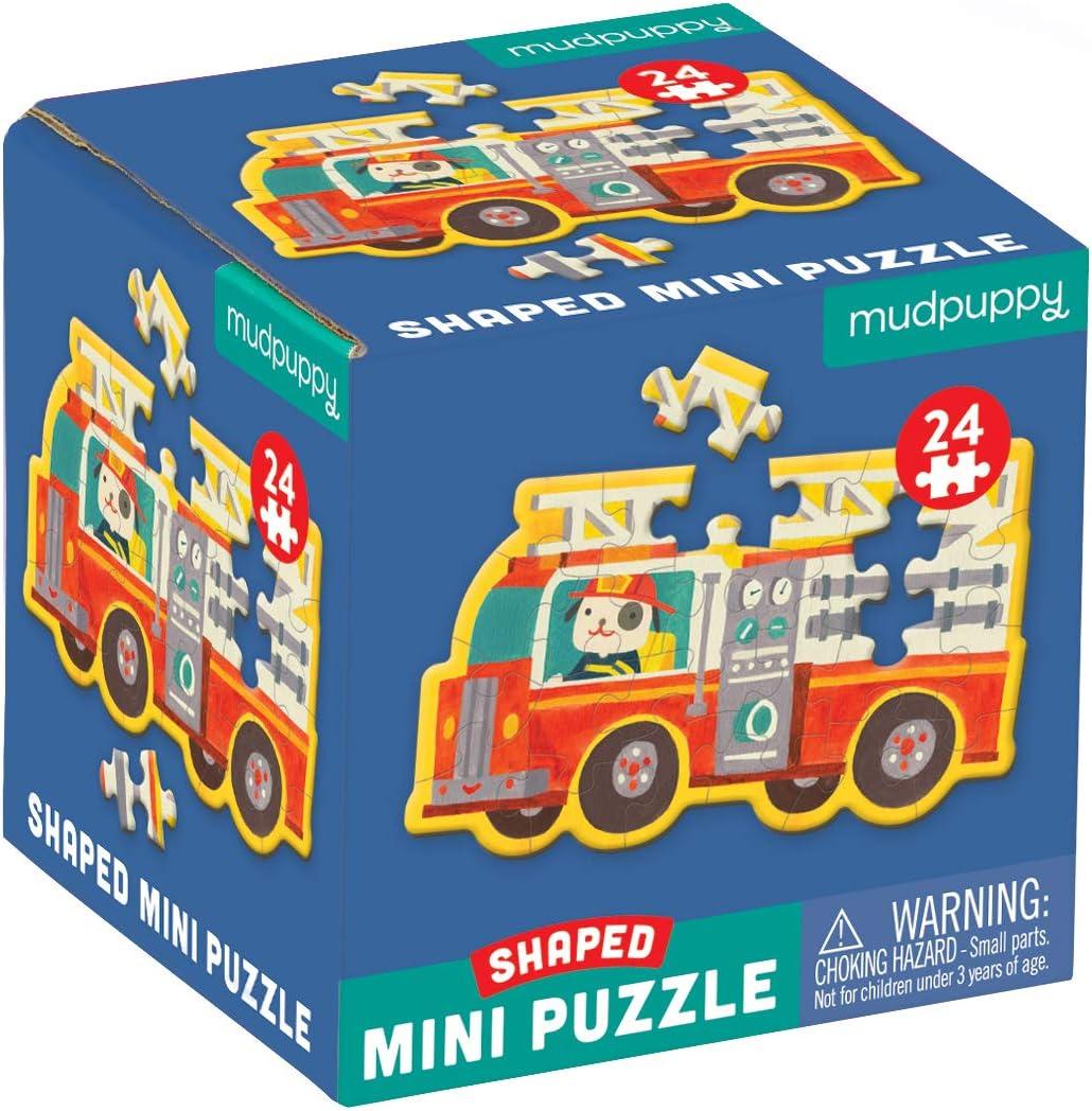 """Mudpuppy Fire Truck Shaped Topics on TV Mini Puzzle 6"""" Popular standard Pieces 6â 24 x"""
