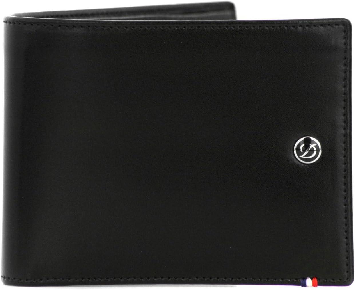 S.T. Dupont Line D Wallet, Black, Leather, 8 Cards, 180003