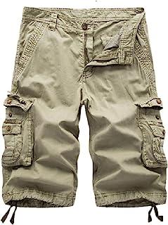 Leward Men's Cotton Twill Cargo Shorts Outdoor Wear Lightweight
