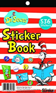 Eureka Educational Cat in The Hat Sticker Book for Classroom Decoration, 1pc